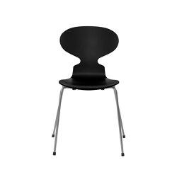 Ant™ | 3101, Black, lacquered, silver grey base | Sillas | Fritz Hansen