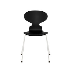 Ant™ | 3101, Black, lacquered, white base | Stühle | Fritz Hansen