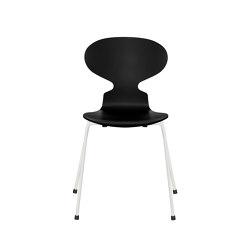 Ant™ | 3101, Black, lacquered, white base | Sillas | Fritz Hansen