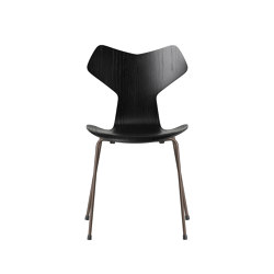 Grand Prix™ | 3130, Black, coloured ash, brown bronze base | Sillas | Fritz Hansen
