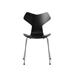 Grand Prix™ | 3130, Black, coloured ash, silver grey base | Sillas | Fritz Hansen