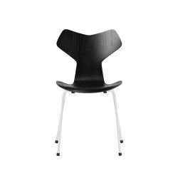 Grand Prix™ | 3130, Black, coloured ash, white base | Sillas | Fritz Hansen