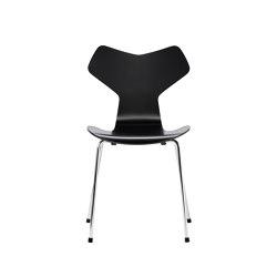 Grand Prix™ | 3130, Black, lacquered, chrome base | Sillas | Fritz Hansen