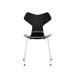 Grand Prix™ | 3130, Black, lacquered, white base | Sillas | Fritz Hansen
