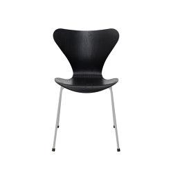 Series 7™ | 3107, Black, coloured ash, nine grey base | Stühle | Fritz Hansen
