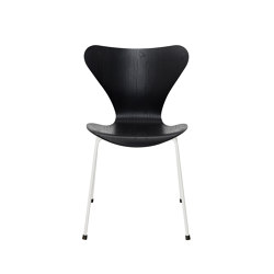 Series 7™ | 3107, Black, coloured ash, white base | Sedie | Fritz Hansen