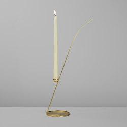 Gambalunga (Brushed brass) | Candlesticks / Candleholder | Roll & Hill