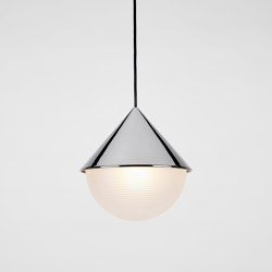 Half & Half Pendant - Hemisphere (Polished Nickel) | Suspended lights | Roll & Hill