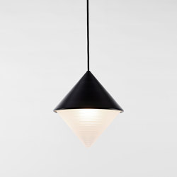Half & Half Pendant - Cone (Black) | Suspended lights | Roll & Hill