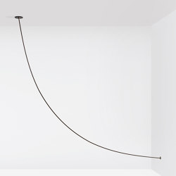 Pole 05 - Ceiling to Wall (Black) | Suspended lights | Roll & Hill