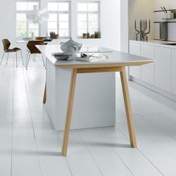 next125 cooking table Alpine white matt velvet | Island kitchens | next125