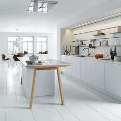 NX 510 Alpine white matt velvet | Fitted kitchens | next125