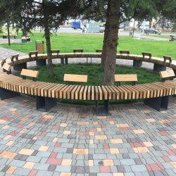 City life | Bench (radial) | Seating islands | Punto Design