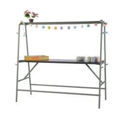 Monobar | Bar table (with a top shelf) | Standing tables | Punto Design