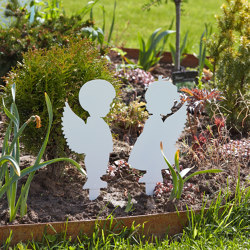 Sculptures | Boy & Girl (flat) | Garden accessories | Punto Design