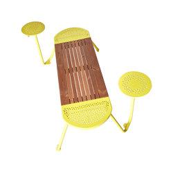 Tubes | Bench  2 tables | Bancos | Punto Design