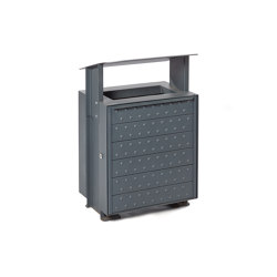 Verona | Litter bin (steel panels) | Waste baskets | Punto Design