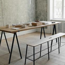 Trestle Table | Blackened Steel + Oak Planks | Tavoli pranzo | Frama