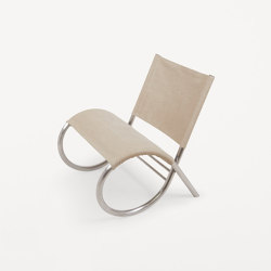 Richardt Chair | Raw Steel | Canvas | Sessel | Frama