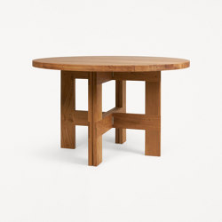 Farmhouse Trestle Table | 120 Ø | Dining tables | Frama