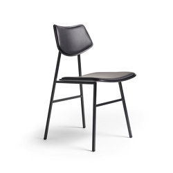 1960 Chair Seat and backrest offset upholstery, Black Oak | Chairs | Rex Kralj