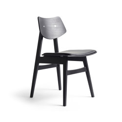 1960 Wood Chair Seat offset upholstery, Black Oak | Stühle | Rex Kralj