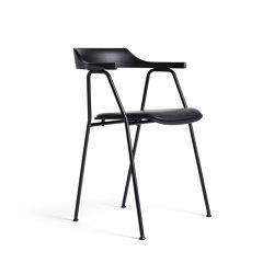 4455 Chair Seat offset upholstery, Black oak | Stühle | Rex Kralj