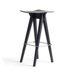 Mosquito Barstool High, Black Oak | Barhocker | Rex Kralj