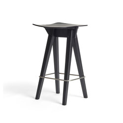 Mosquito Barstool Low, Black Oak | Counter stools | Rex Kralj