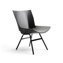 Shell Lounge Chair Seat upholstery, Black Oak | Fauteuils | Rex Kralj