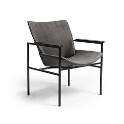 Shell Lounge Square Full Upholstery, Black Oak   Armchairs   Rex Kralj