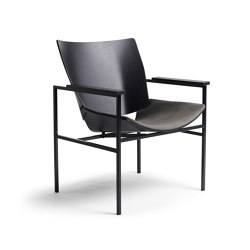 Shell Lounge Square Seat Upholstery, Black Oak   Sillones   Rex Kralj