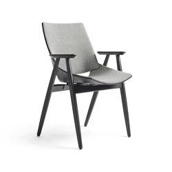 Shell Wood Armchair Full upholstery, Natural Oak | Sedie | Rex Kralj