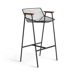 Zelo Barchair High, Matt Black Powdercoat | Barhocker | Rex Kralj