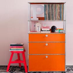 USM Haller Credenza | Pure Orange | Shelving | USM