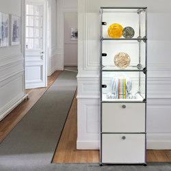 USM Haller E | Pure White | Display cabinets | USM