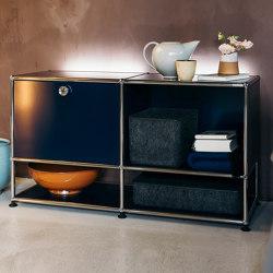 USM Haller E | Steel Blue | Sideboards | USM