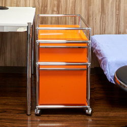 USM Haller Pedestal | Pure Orange | Pedestals | USM