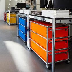 USM Haller Pedestal | Pure Orange | Cassettiere ufficio | USM