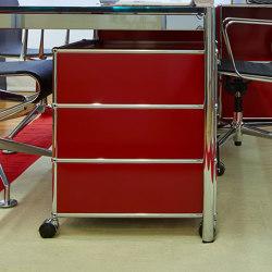 USM Haller Pedestal | USM Ruby Red | Pedestals | USM