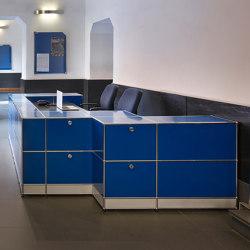 USM Haller Reception Station   Gentian Blue   Comptoirs   USM