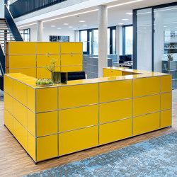 USM Haller Reception Station | Golden Yellow | Counters | USM