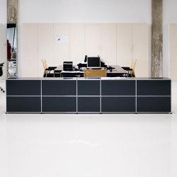 USM Haller Reception Station | Graphite Black | Counters | USM