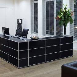 USM Haller Reception Station | Graphite Black | Banconi | USM
