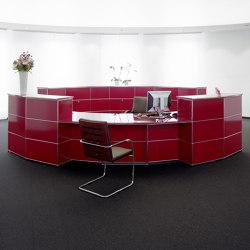 USM Haller Reception Station | USM Ruby Red | Counters | USM