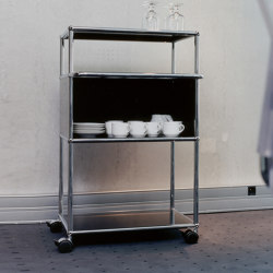USM Haller Serving Cart | Graphite Black | Trolleys | USM