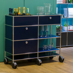 USM Haller Serving Cart | Steel Blue | Carritos | USM