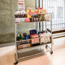 USM Haller Serving Cart | Transparent Glass | Carrelli | USM