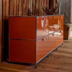 USM Haller Sideboard | Pure Orange | Sideboards | USM