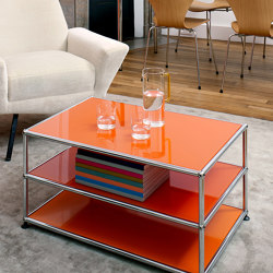 USM Haller Sidetable | Pure Orange | Side tables | USM